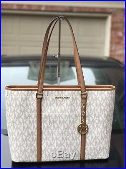 Michael Kors PVC Sady Vanilla Large Weekender Travel Tote Bag Laptop $438