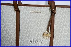 Michael Kors Sady Large Multifunction Pvc Leather Tote Mk Vanilla