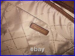 Michael Kors Sady Large Multifunctional Tote Bag Brown Leather Laptop Sleeve