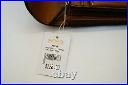Michael Kors Sady Lg Multifunction Pvc Tote Bag & Wallet Set Mk Vanilla/brown