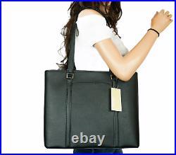 Michael Kors Sady Medium Ns Tz Tote Shoulder Bag Leather Black (13 Laptop Fits)