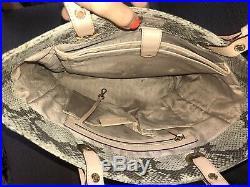 Michael Kors Snakeskin Extra Large Laptop Women Tote Bag
