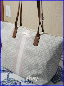Michael Kors Top Zip Tote Travel Large logo laptop bag satchel baby diaper bag