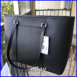 Michael Kors Women Large Leather Shoulder Tote Bag Laptop Purse Handbag Black