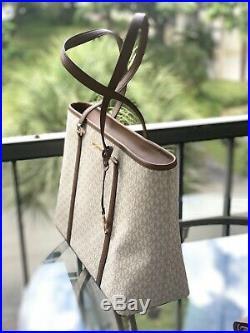 Michael Kors Women Large Leather Shoulder Tote Laptop Purse Handbag Bag +Wallet