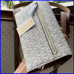 Michael Kors Women Large PVC Leather Shoulder Tote Bag Handbag MK Purse + Wallet