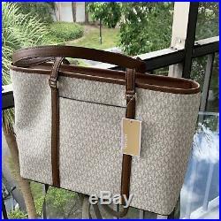 Michael Kors Women Large PVC Leather Shoulder Tote Bag Purse Handbag + Wallet