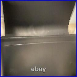 Michael Kors mens Harrison Leather Shoulder Flap Bag Leopard Brown Black Laptop