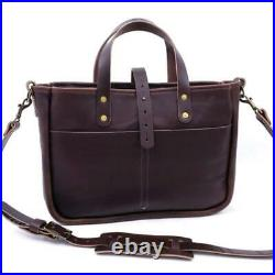 Mint $350 Go Forth Goods Buchanan Leather Tote Laptop Bag Briefcase In Mocha