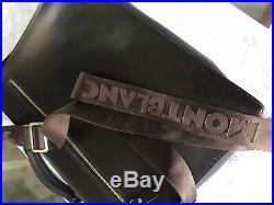 Mont Blanc Brown Leather Laptop Bag Mens/Womens/Unisex