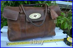 Mulberry BAYSWATER bag OAK tan leather handbag laptop shopper work baby LARGE