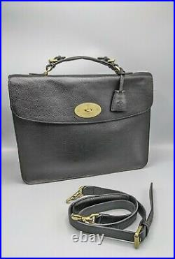 Mulberry Bayswater Briefcase/Laptop Bag in Black Leather