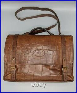 Mulberry Laptop Bag/Briefcase in Antique Oak Congo Leather