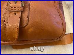 Mulberry Vintage Oak Leather Work Overnight Laptop Bag