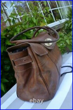 Mulberry bag Bayswater Oak tan leather handbag laptop shopper work tote LARGE