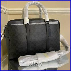 NEW $498 Coach Signature Trekker Carryall Leather Luggage Briefcase Laptop Bag