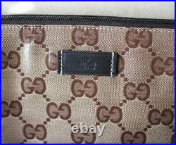 NEW Authentic GUCCI Crystal GG MESSENGER BAG LAPTOP SLING BAG Brown 278301 9643