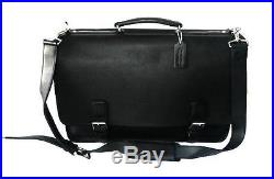 NEW Coach LG Hudson Black Business Duffle Laptop Travel Organizer Bag Briefcase