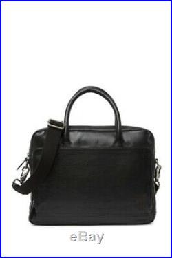 NEW FRYE Leather Messenger Laptop Work Bag Briefcase Etched Attache Men Women