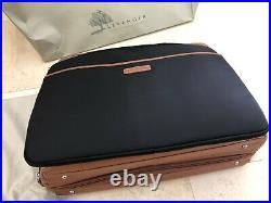 NEW Levenger Majorca Expandable Laptop Bag with Laptop Sleeve in Saddle