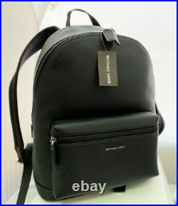 NEW MICHAEL KORS MK COOPER Black Leather Large Laptop Backpack Bag msrp $548