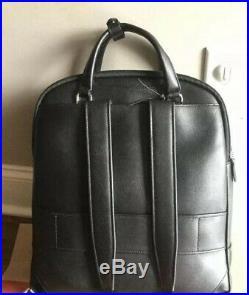 NEW TUMI STANTON ORION BACKPACK BLACK LEATHER $595 Women Laptop Bag 79411