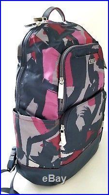 NEW TUMI women Lightweight Nylon fashion travel laptop backpack work bag purple