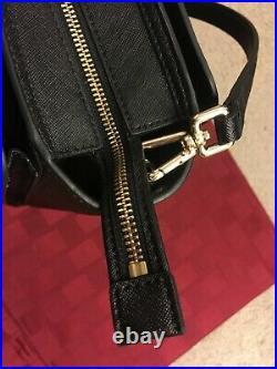 NWOT Tory Burch Robinson Black Genuine Leather Cross-body Tote Laptop Bag