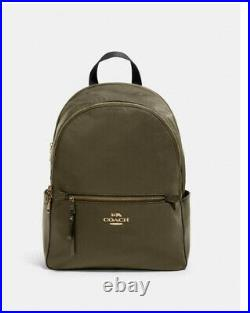 NWT COACH 91145 Addison Backpack laptop bag Nylon Leather Purse satchel tote
