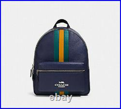 NWT COACH Jes Backpack 89167 medium charlie laptop bag Cadet Multi purse tote
