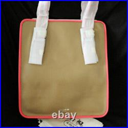 NWT COACH Legacy Leather Tan/Pink Laptop Magazine Tote Shoulder Bag NEW $458