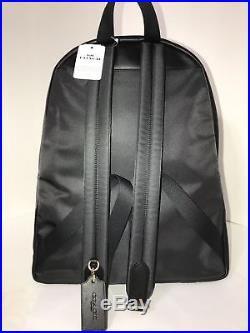 NWT COACH Signature Charlie Leather Backpack Laptop Book Bag Brown Black F58314
