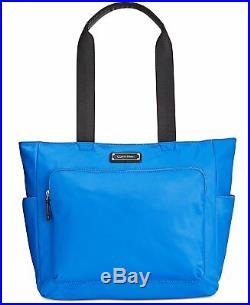 NWT Calvin Klein Womens Laptop Case Large Nylon Tote Bag Blue NEW Authentic
