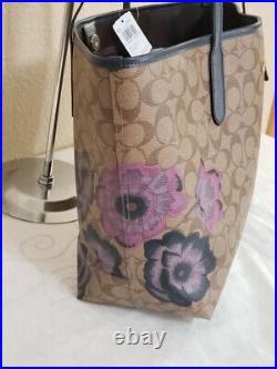 NWT Coach City Tote 5697 Signature Kaffe Fassett FLORAL Print LAPTOP BAG