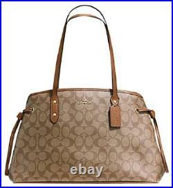 NWT Coach DRAWSTRING CARRYALL F57842 satchel shoulder bag SIGNATURE laptop