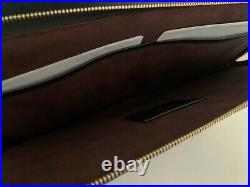 NWT Coach Laptop iPad Sleeve Case in Black Crossgrain Leather withGold F78121 $178