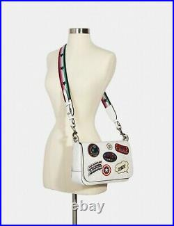 NWT Coach Marvel Jes Messenger 2537 Signature laptop bag Patches Limited
