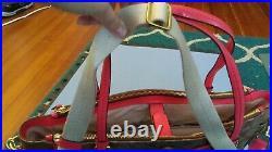 NWT Coach Peyton Leather Khaki Persimmon diaper, travel, laptop bag tote purse