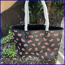 NWT Coach Reversible City Tote in Signature Blocked laptop bag satchel