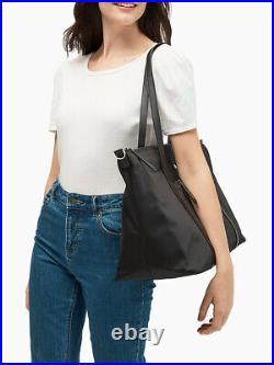 NWT KATE SPADE JAE WEEKENDER TOTE DUFFLE BAG satchel laptop baby bag Black