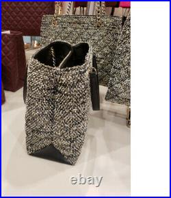 NWT KATE SPADE natalia Chain tote tweed satchel shoulder bag purse laptop