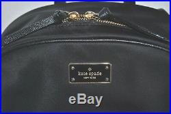 NWT Kate Spade Bradley Wilson Road Black LAPTOP Backpack Travel Book Bag