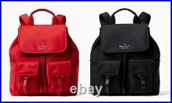 NWT Kate Spade Carley flap backpack bookpack nylon shoulder Bag purse laptop