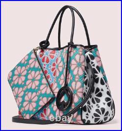 NWT Kate Spade EVERYTHING Flower Medium Tote Bag Green Multi Fits 17 LAPTOP