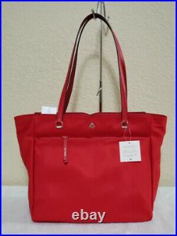 NWT Kate Spade Jae Nylon Large Tote Red, Garden Vine Handbag laptop bag pick 1