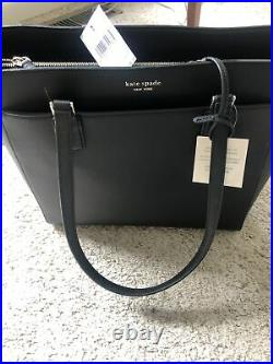 NWT Kate Spade New York Cameron Saffiano Leather Laptop Tote Bag in Black