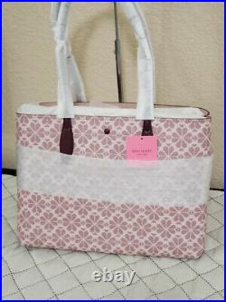 NWT Kate Spade Spade Flower All Day Tote Pouch laptop bag shoulder bag travel