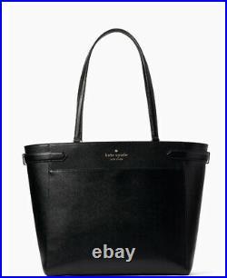 NWT Kate Spade Staci Laptop Tote Colorblock shoulder Bag satchel handbag black