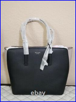 NWT Kate Spade colorblock Margaux Large Leather Tote laptop bag shoulder bag