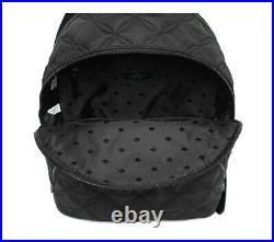 NWT Kate Spade karissa nylon quilted large backpack black gym laptop bag